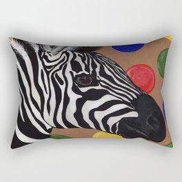 Zebra and Bubbles Rectangular Pillow