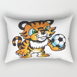 Soccer Tiger (color) square Rectangular Pillow