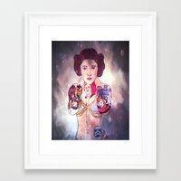 princess leia Framed Art Prints featuring Leia by Artistic