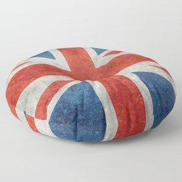 British flag of the UK, retro style Floor Pillow