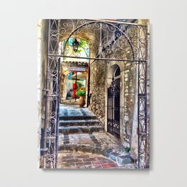 Gourdon Alley Metal Print