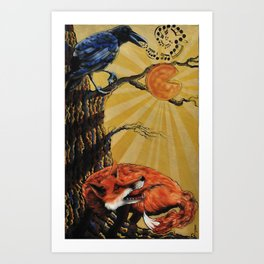 the Fox and Crow Art Print