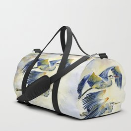 Flying Together - Great Blue Heron Duffle Bag