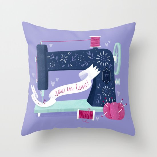 Sew In Love Throw Pillow
