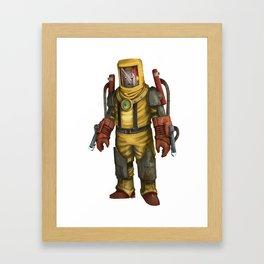 Heat Man Framed Art Print