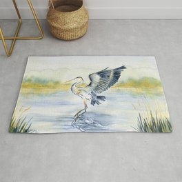 Great Blue Heron Rug