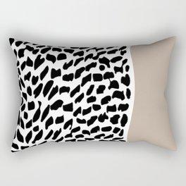 Hand Drawn Animal Patten Chunky Taupe Contrast #buyart #homedecor Rectangular Pillow