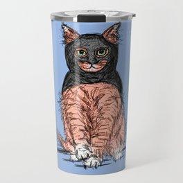 Periwinkle Pink Bat Cat Travel Mug