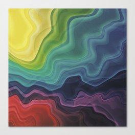 Retro Waves Canvas Print