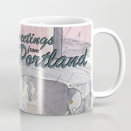 Portland Pigeons - Big Pink GREETINGS Coffee Mug
