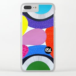 CRAZY COLORFUL Clear iPhone Case