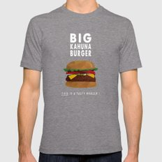 Pulp Fiction - big kahuna burger LARGE Mens Fitted Tee Tri-Grey