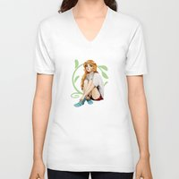 socks V-neck T-shirts featuring Socks by ChangingColors