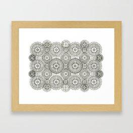 Wheel Mandalas Framed Art Print