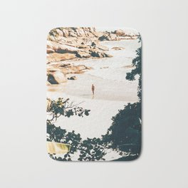 Solo Traveler || #illustration #travel Bath Mat