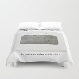 sold, 6 boards Duvet Cover