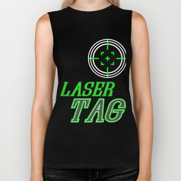 Funny Laser Tag Party T-Shirt Mode On Laser tag Biker Tank