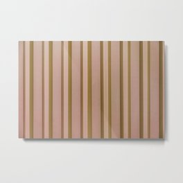 Stripes - Peach Metal Print