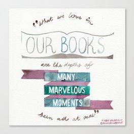 VONNEGUT QUOTE//SLAUGHTERHOUSE-FIVE//MARVELOUS BOOKS Canvas Print