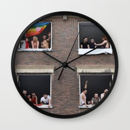 Watching the Pride Parade Wall Clock