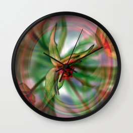 Spring Plant Energy Wall Clock
