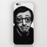woody allen iPhone & iPod Skins featuring Woody Allen by Alexia Rose
