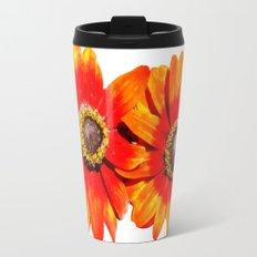 Orange Flower 2 Travel Mug