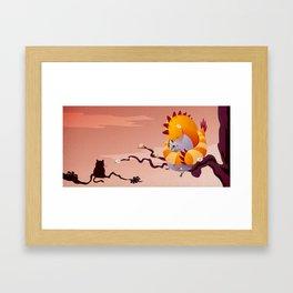 Big bird is watching you Framed Art Print