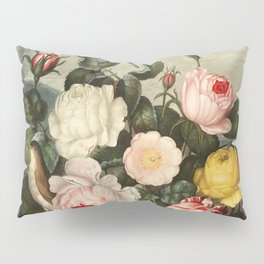 Pink  Red Floral : New Illustration Of The Sexual System Pillow Sham