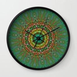 Nausea Iris Mandala / Pattern 2a Wall Clock