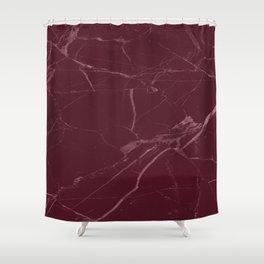 modern burgundy marble look Shower Curtain