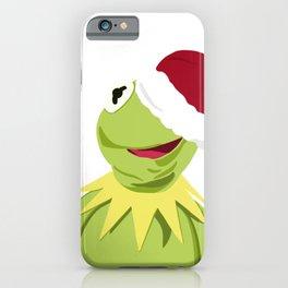 Santa Kermit - The Optimistic Christmas Frog iPhone Case