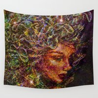 medusa Wall Tapestries featuring Medusa.... by shiva camille