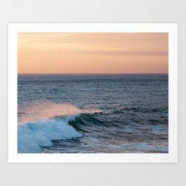 Waves Go By Art Print