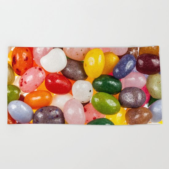 Cool colorful sweet Easter Jelly Beans Candy Beach Towel