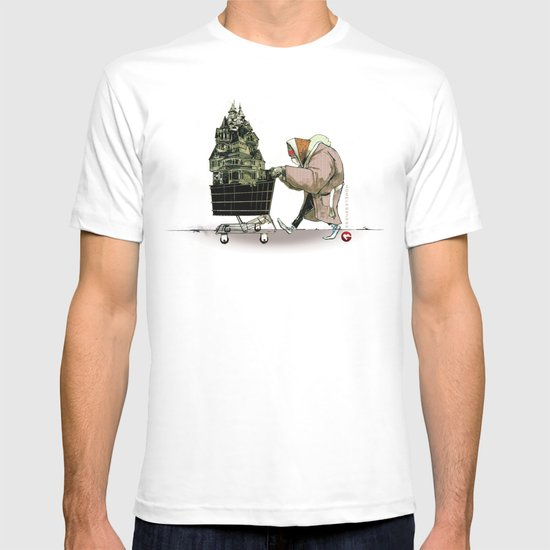 "Glue Network Print Series ""Homelessness"" T-shirt"