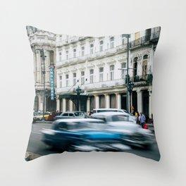 Speeding Through Time Throw Pillow