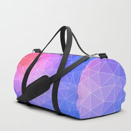 Abstract Colorful Flashy Geometric Triangulate Design Duffle Bag