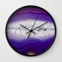 Purple Agate Wall Clock