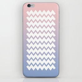 Chevron on Rose Quartz and Serenity Gradient iPhone Skin