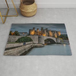 Conwy Castle by Lamplight Rug