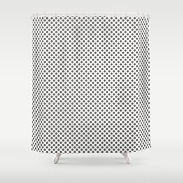 Pewter Polka Dots Shower Curtain