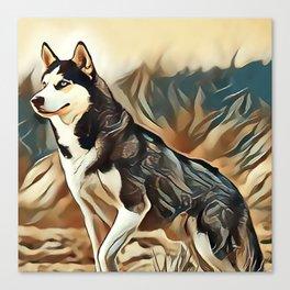 The Siberian Husky Canvas Print