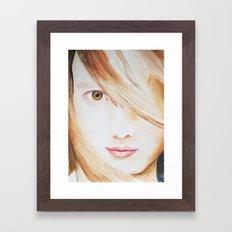 Lila Framed Art Print