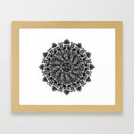 Mandala: Skeleton Leaves Framed Art Print