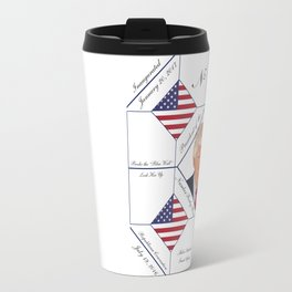 Commemorative Trump 2016 Election Pattern Travel Mug