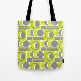 Grey Yellow Relationship Tote Bag