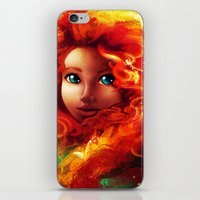 brave iPhone & iPod Skins featuring Brave by Peach Momoko