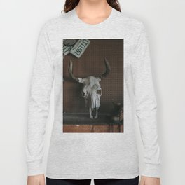 Long Horn Skull Long Sleeve T-shirt