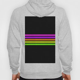 Minimal Abstract Retro Stripes 80s Neon Style - Nena Hoody